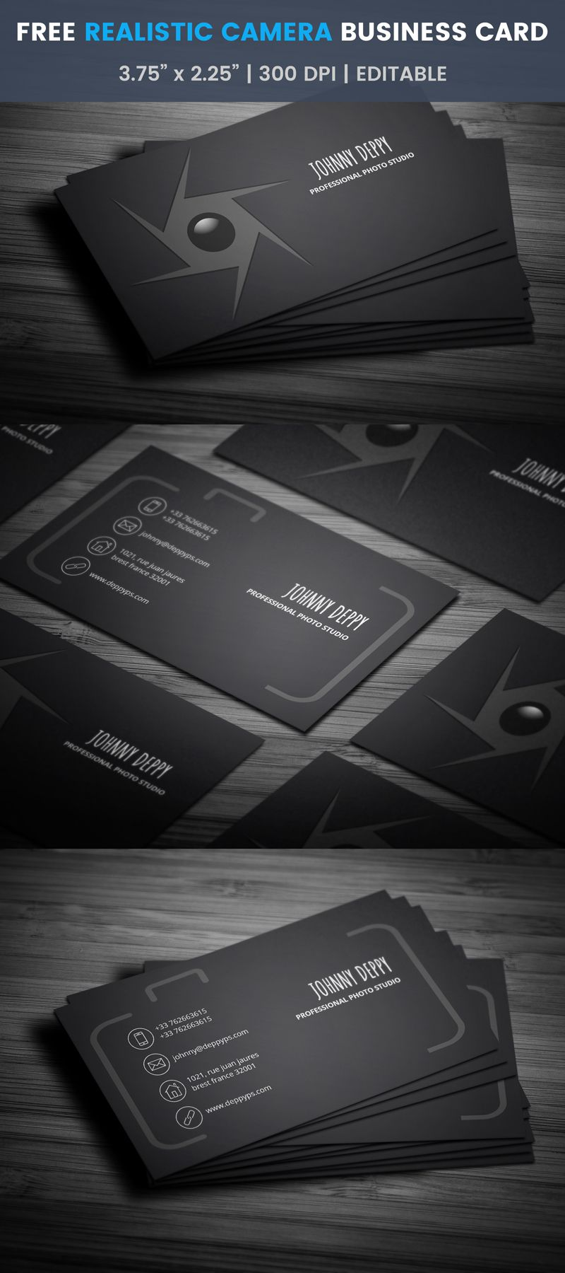 Sharp Aperture Photographer Businesses Card Template Photo Photographer Business Card Template Photographer Business Cards Photography Business Cards Template