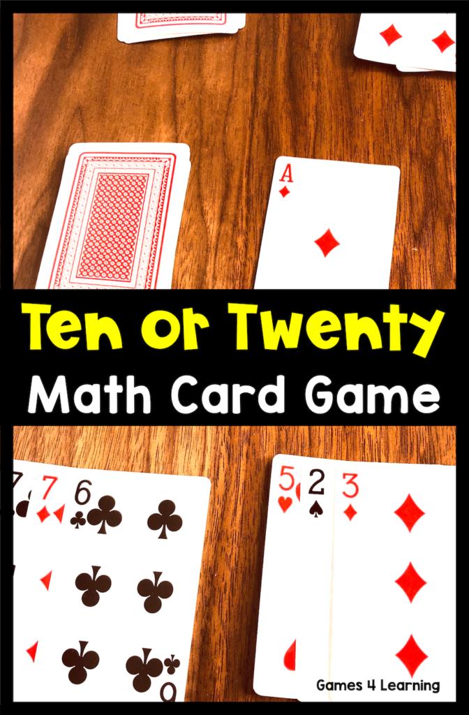 7 simple math card games  math card games easy math