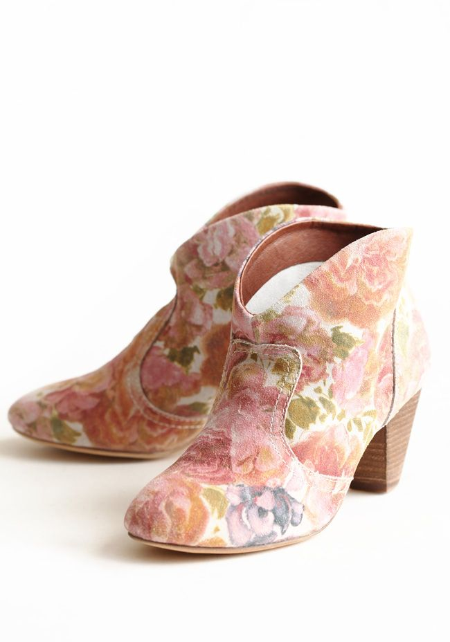 Bolivia Flower Booties By Chelsea Crew
