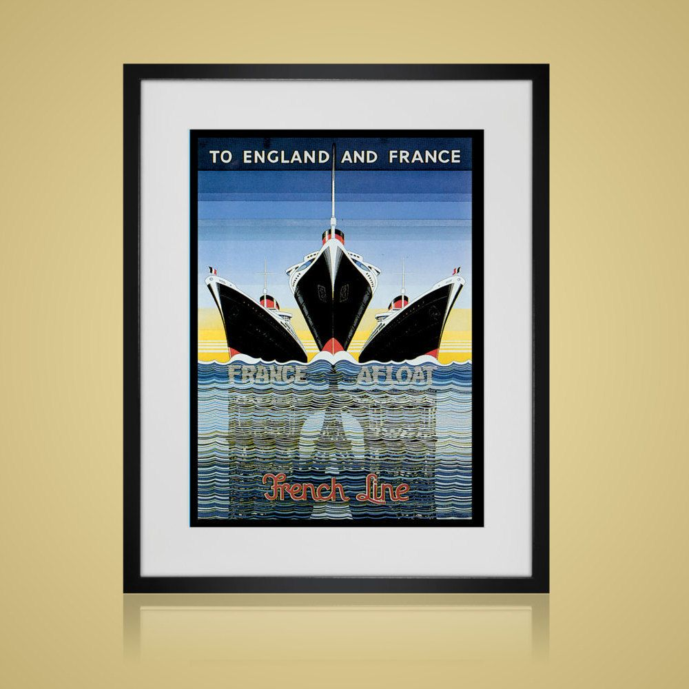 Framed Wall Art - VINTAGE TRAVEL POSTER- Wall Art Sets - Available ...