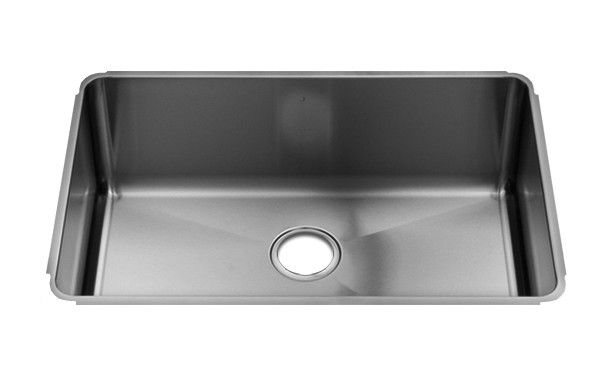 "Classic 28"" x 19.5"" Undermount Single Bowl Kitchen Sink"