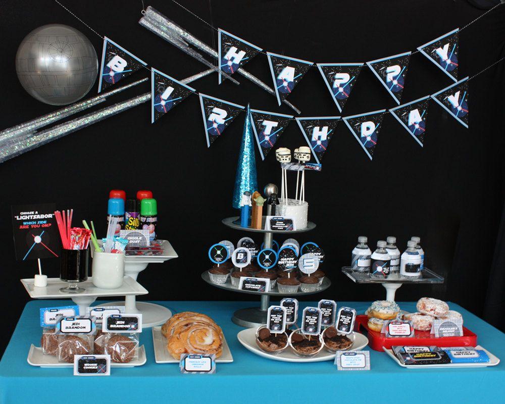 Star Wars Party Cumpleaños niños, Decoracion fiesta