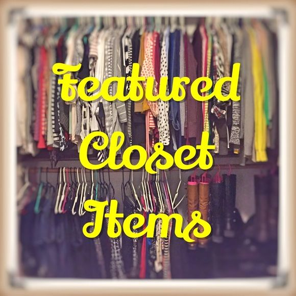 New, Fun, Popular Items Be sure to check out the rest of my closet for more great items! Keep scrolling! Other