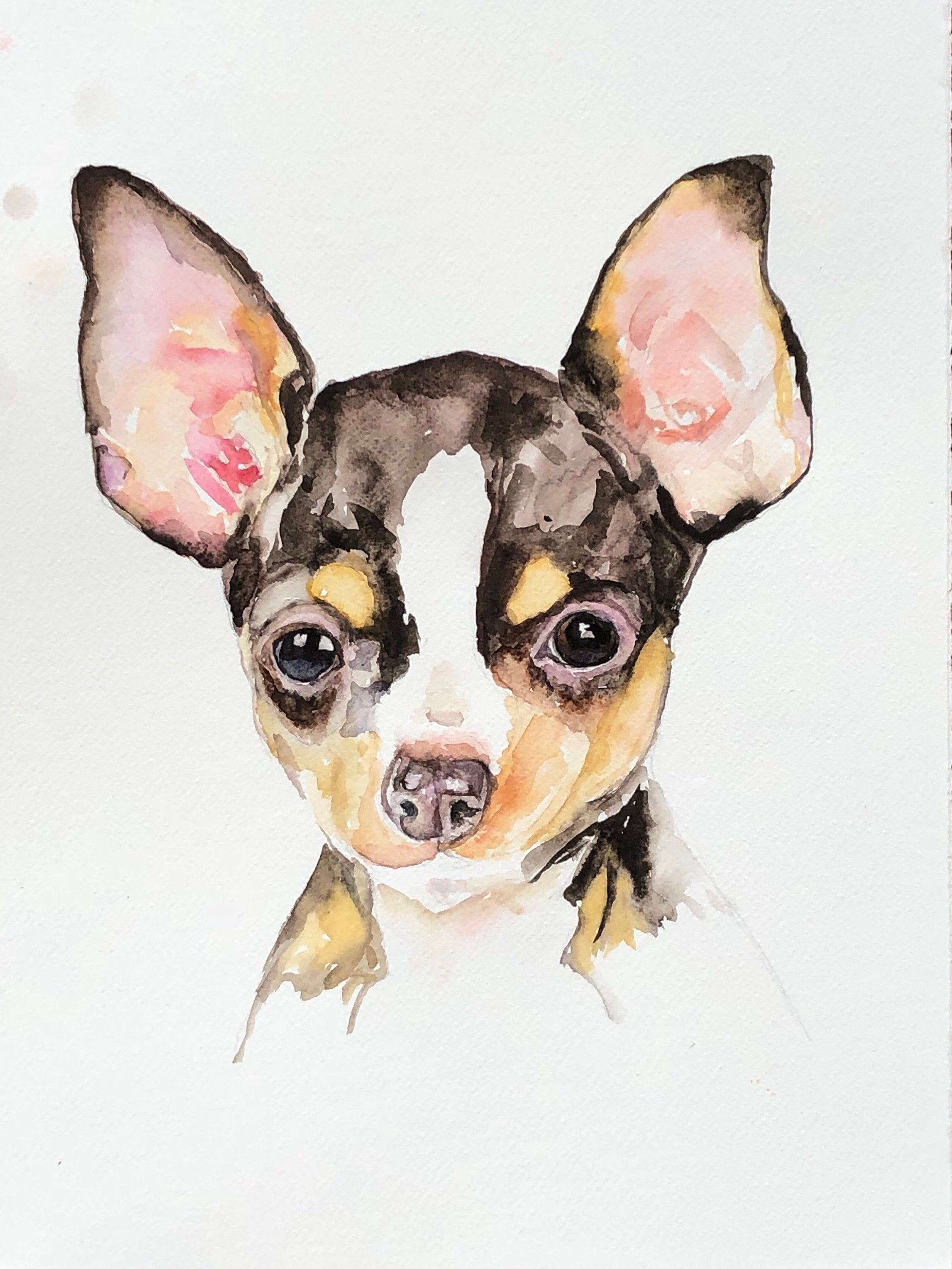 Custom Dog Portrait Custom Chihuahua Painting Custom Pet Portrait