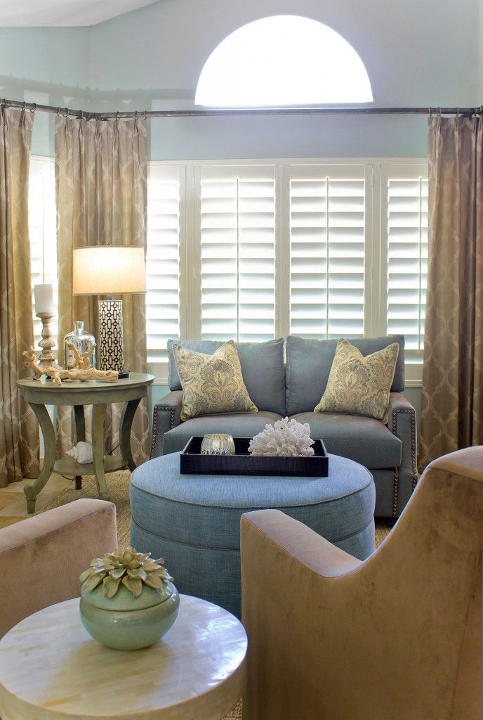 Sand & Sea living room restyle, maybe powder blue instead