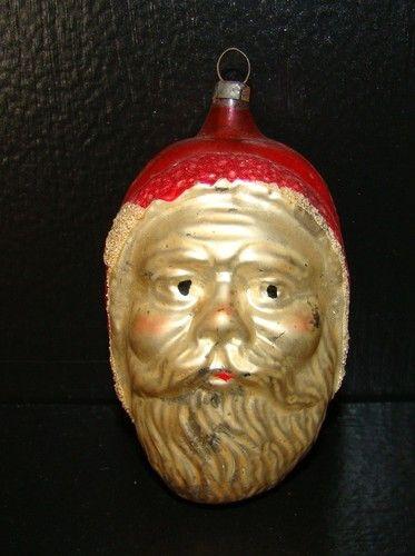 Antique German Glass Santa Claus Christmas Ornament Rare Ebay