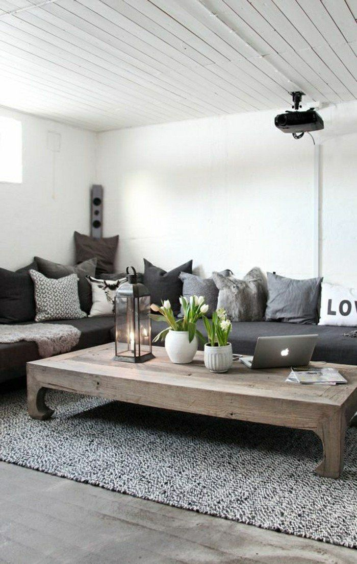 Images De Canapé Dangle Gris Qui Vous Inspire Voyez Nos - Canapé convertible scandinave pour noël salon interieur moderne