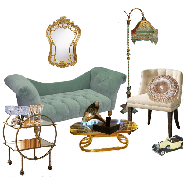 Get the 1920s look in your home with d cor inspired by the for Living room ideas 1920s