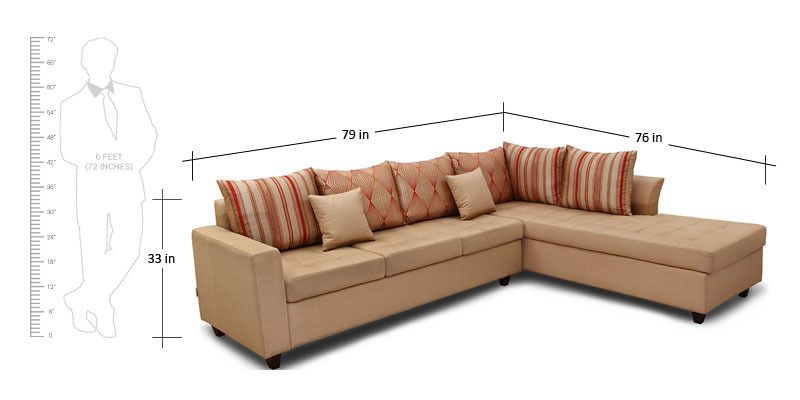 Belmont Fabric Lounger Rhs By Hometown By Hometown Online Sofa Sectionals Furniture Pepperfry Product Sofa Furniture Furniture Sectional Sofa