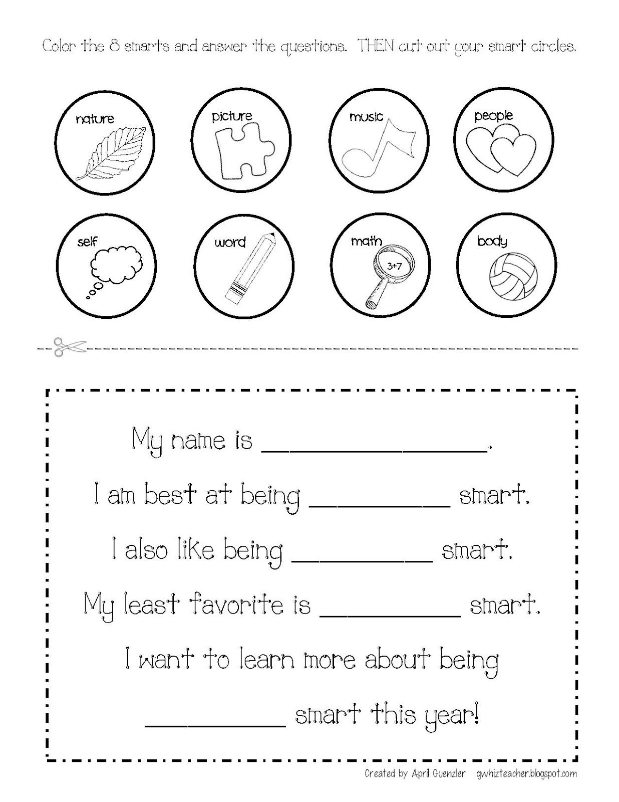 Multiple Intelligences Gwhizteacher Brain Mapping Free