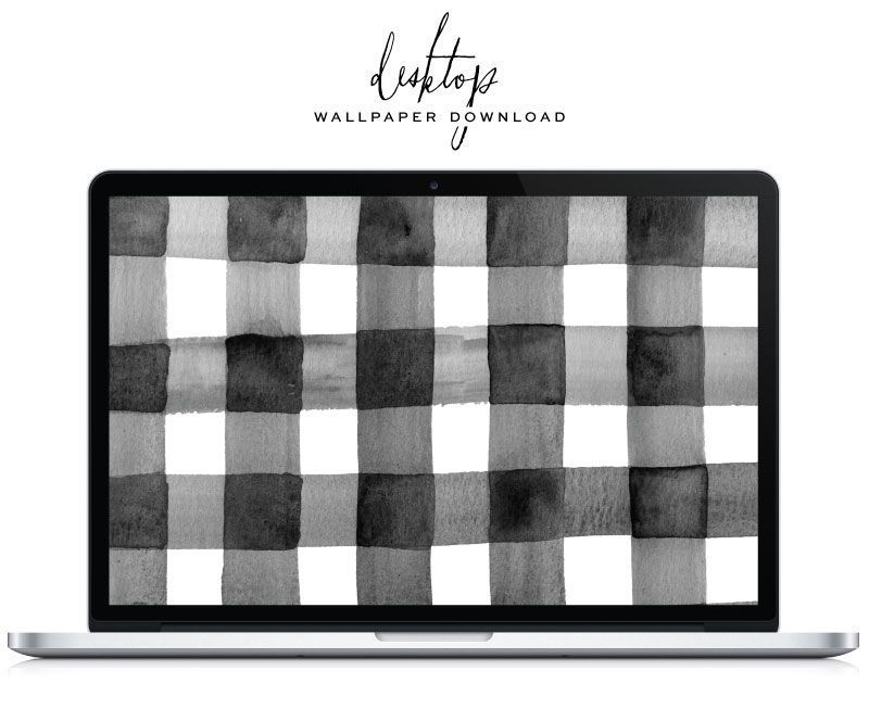 Gingham Desktop Wallpaper Download - Saffron Avenue #springdesktopwall