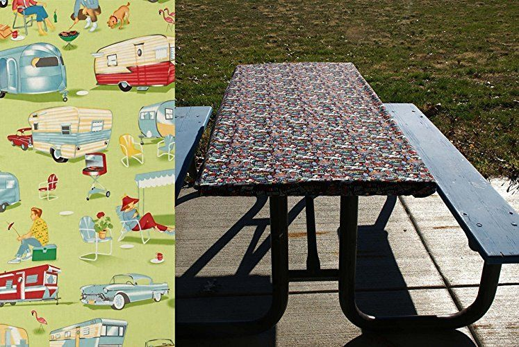 RV Camping Table Cover   Picnic Tablecloth   Elastic Table Cloth For Picnic  Tables And Folding