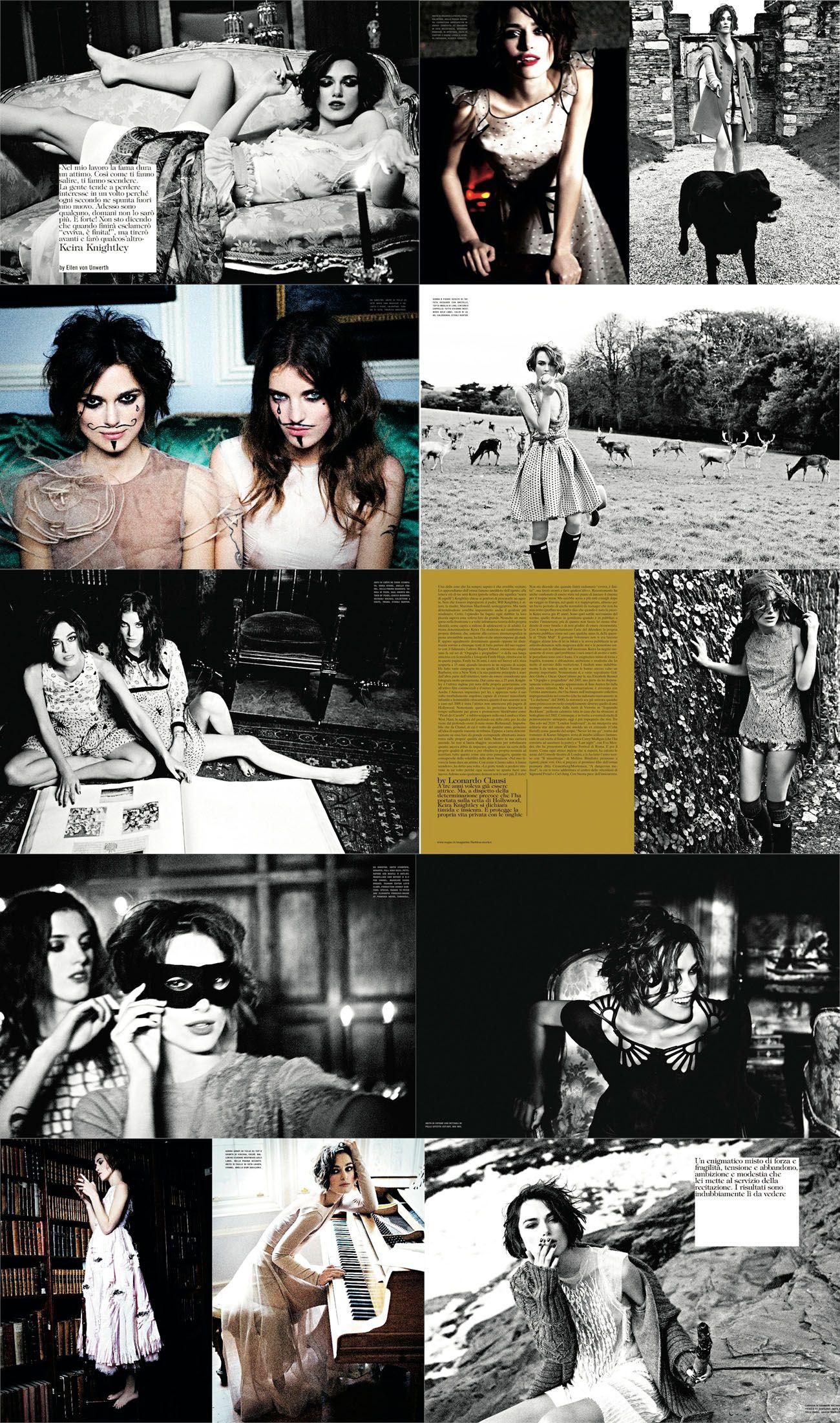 Keira Knightley in Vogue Italia by Ellen Von Unwerth [2011].