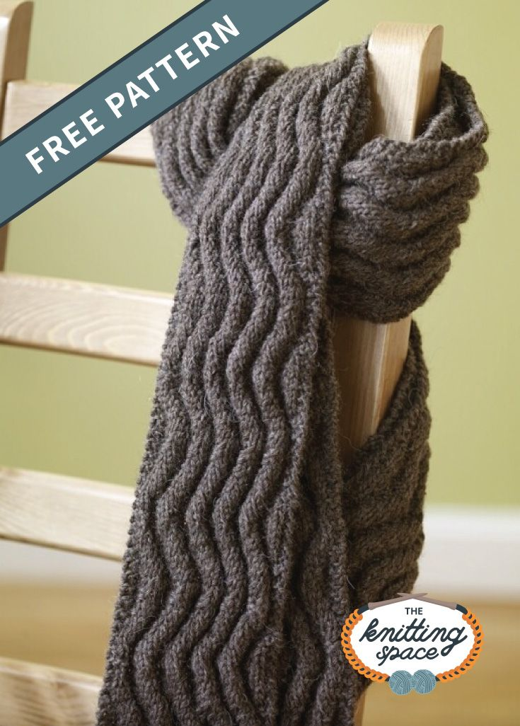 Meandering Knitted Rib Scarf [FREE Knitting Pattern] #autumnwardrobe
