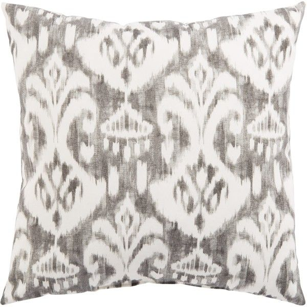 Gray & White Ikat Rivoli Fresco Indoor/ Outdoor Throw Pillow ...