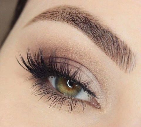 brown makeup Simple eye