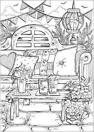 Risultati Immagini Per Creative Haven Summer Scenes Coloring Book