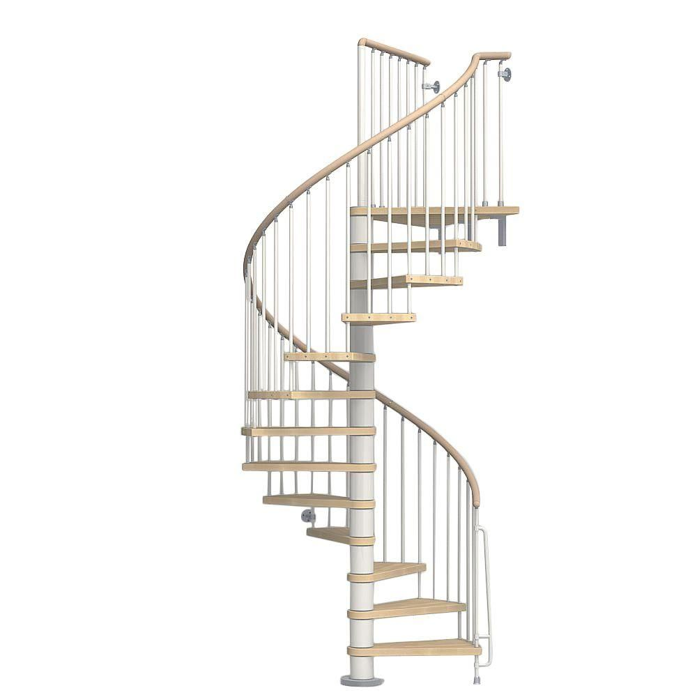 Arke Phoenix 63 In White Spiral Staircase Kit Spiral Staircase
