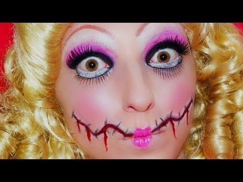 Maquillage licorne halloween facile - Maquillage poupee halloween ...