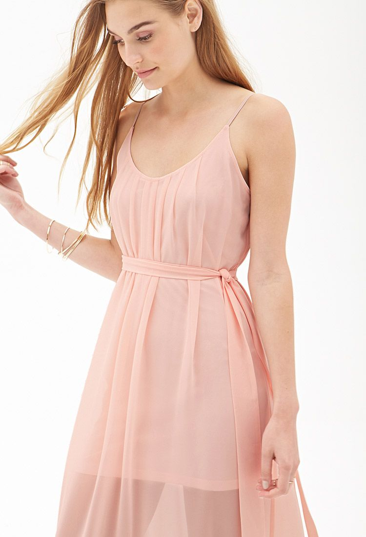 Pleated Chiffon Maxi Dress Forever21 2000121871