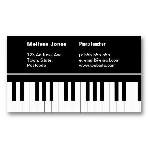 Custom Musical Instrument Business Card Designs | Etsy ...