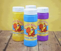 VocabuLarry Bubbles Favor with Personalized Labels