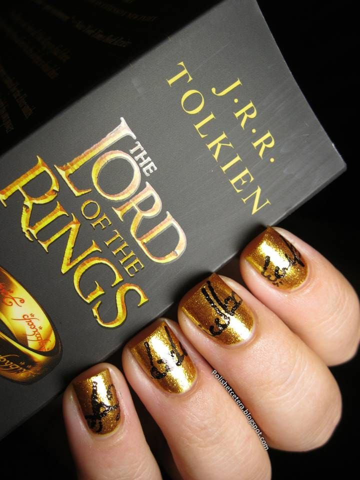 Nail art inspired by Tolkien\'s Lord of the Ring. | Novel Nail Art ...