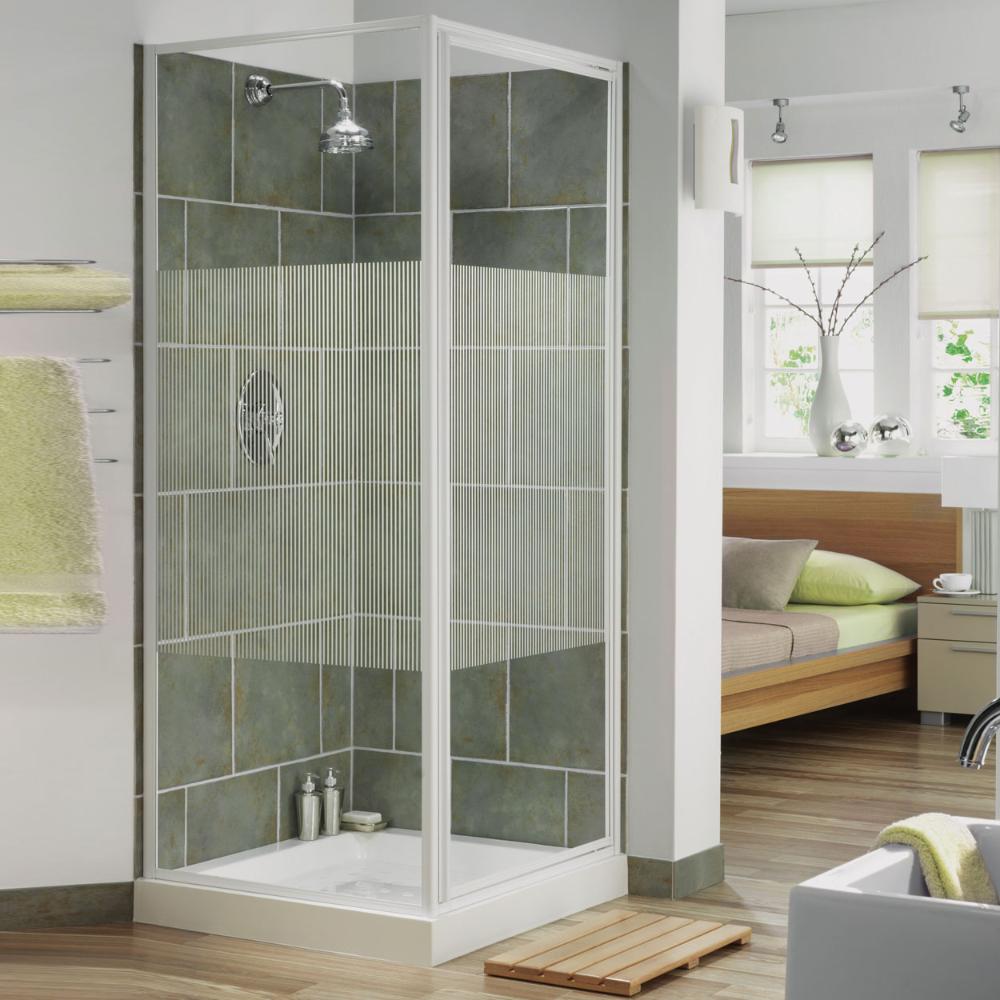 Aqualux Aqua 3 Pivot Door Shower Enclosure 760mm X 760mm White Frame Stripe Glass With Images Big Bathrooms Square Shower Enclosures Shower Enclosure