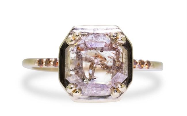MAROA Ring in Yellow Gold with 1.19 Carat Champagne and White Diamond http://ss1.us/a/uiToZUr5