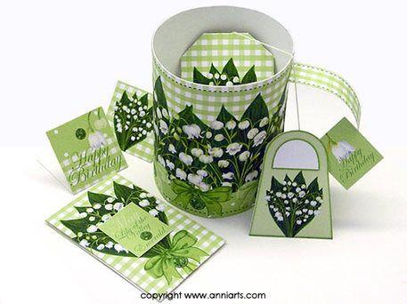 May Birth Flower and Gem range Anni Arts Luxury Printable Crafts