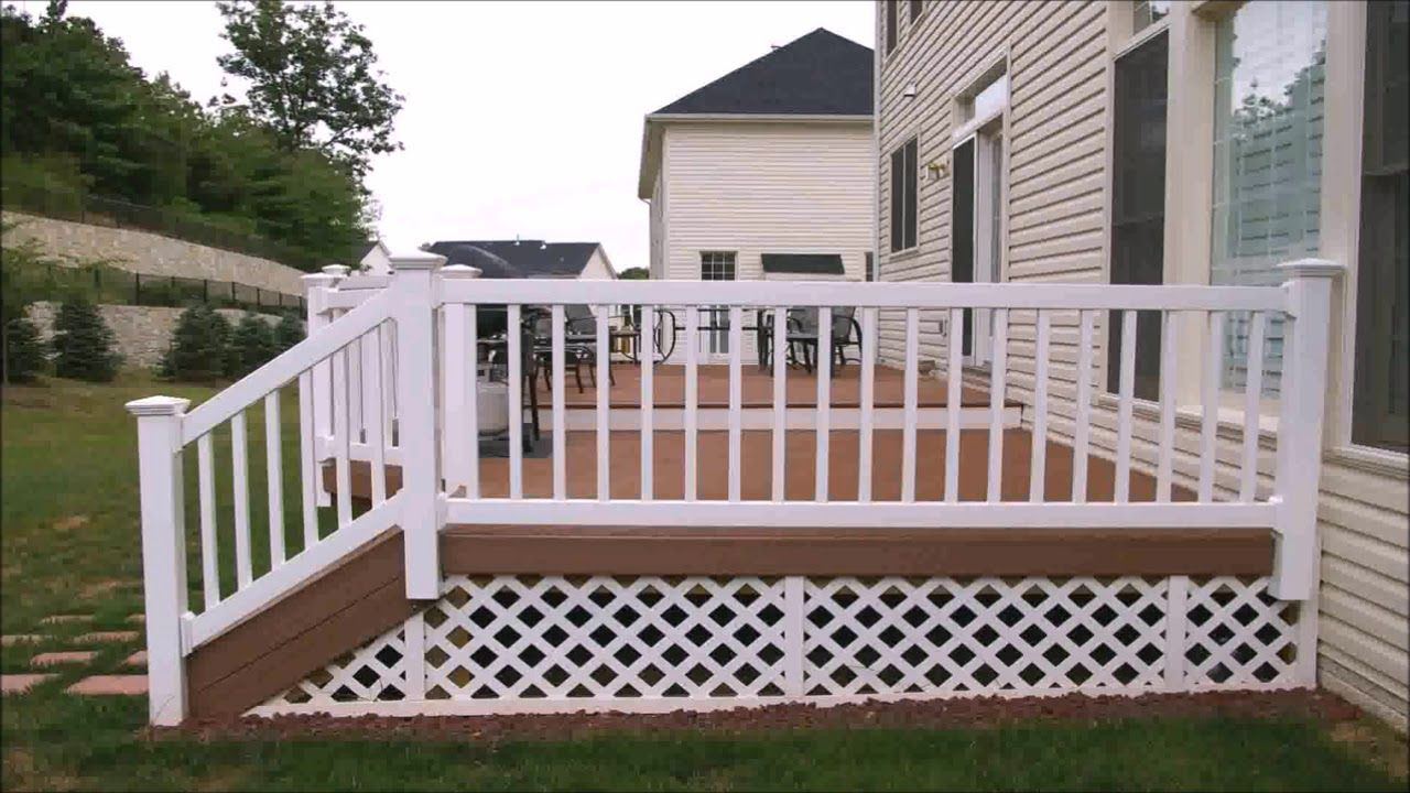 Porch Deck Finishing Ideas With Vinyl Composite And Wood