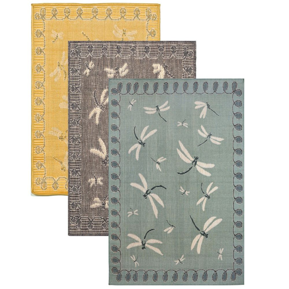 Dragonfly Area Rug Indoor Outdoor Rug Patio Dragonfly Gifts