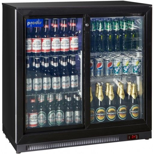 Prodis Nt2bs Double Sliding Door Bottle Cooler Double Sliding Doors Sliding Doors Bottle Coolers