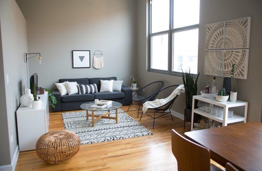 Salon gris et blanc - Blog décoration d\'intérieur | Salon noir ...