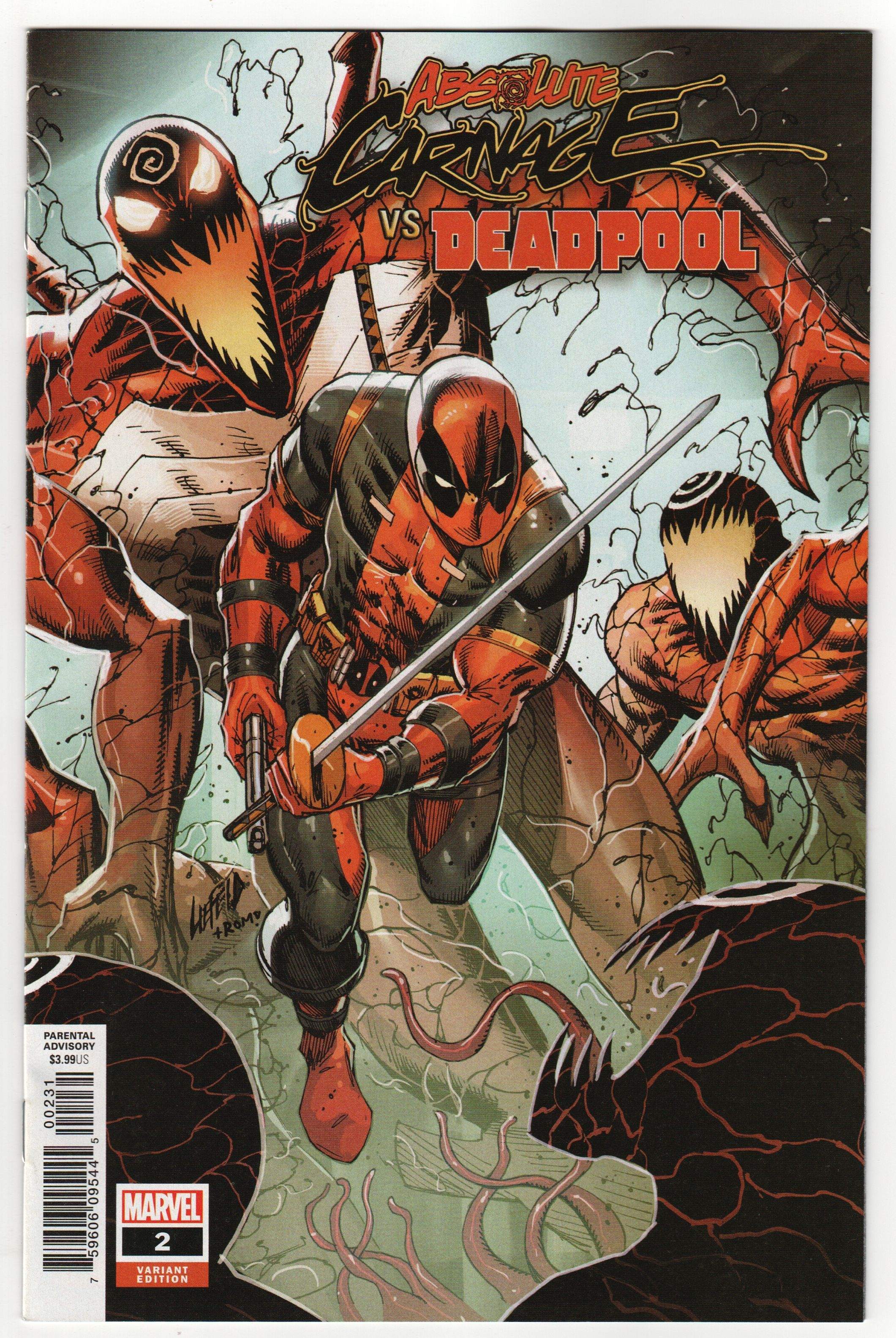 Marvel 2019 Liefeld Connecting Variant Absolute Carnage Vs Deadpool #1