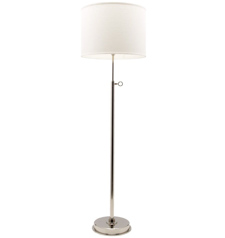 Elegant Simple Keystick Floor Lamp In Silver Tone With Adjustable Height Floor Lamp Lamp Polished Nickel