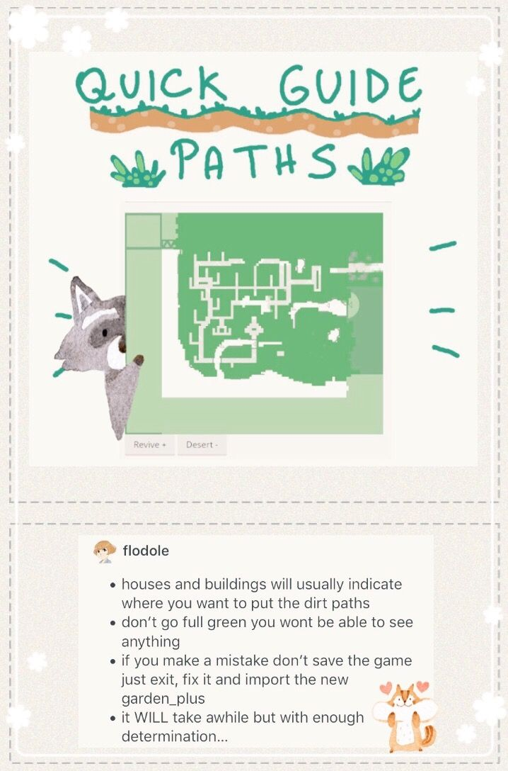 Quick Guide Paths By Flodole Acnl Dirt Path Making Guide For The