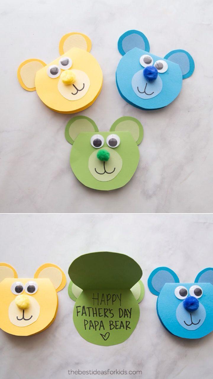 Papa Bear Card Bear Card Forkids Papa Kids Fathers Day Crafts Bear Crafts Crafts For Kids
