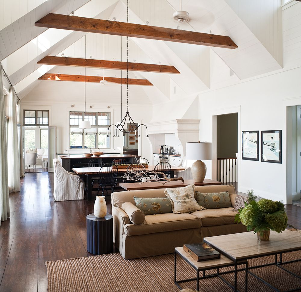 Cathedral ceilings ideas pinterest discover best for Vaulted ceiling exposed beams