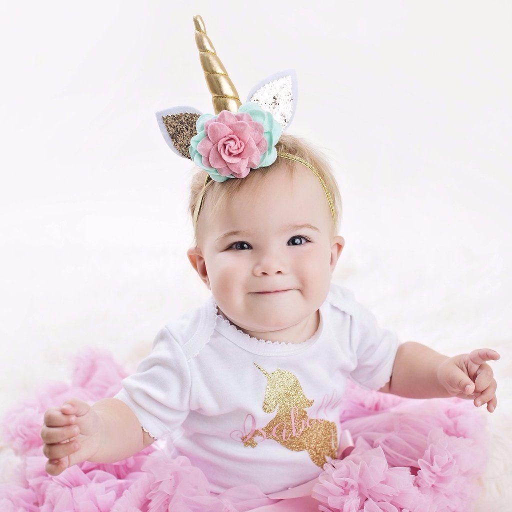 69ef47fab890 Unicorn Baby Headband