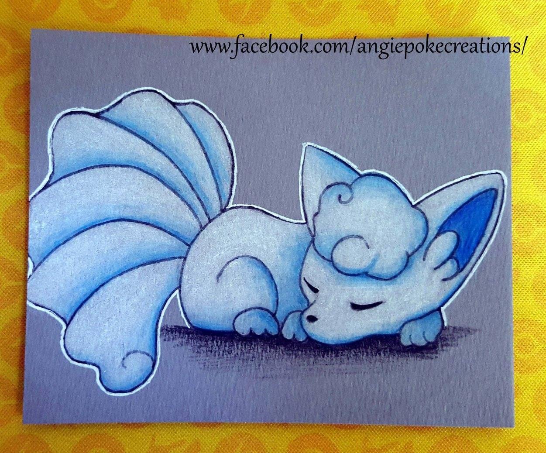 Dessin Pokemon Crayon Couleurs Fan Art Goupix Alola