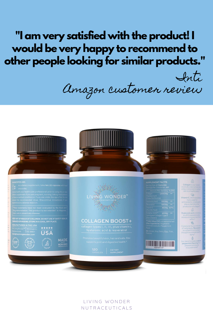 Read Amazon Reviews For Our Product For Better Skin Hair Nails Joints Hair Nails Skin Joints Collagen Younger Collagen Pills Resveratrol Collagen