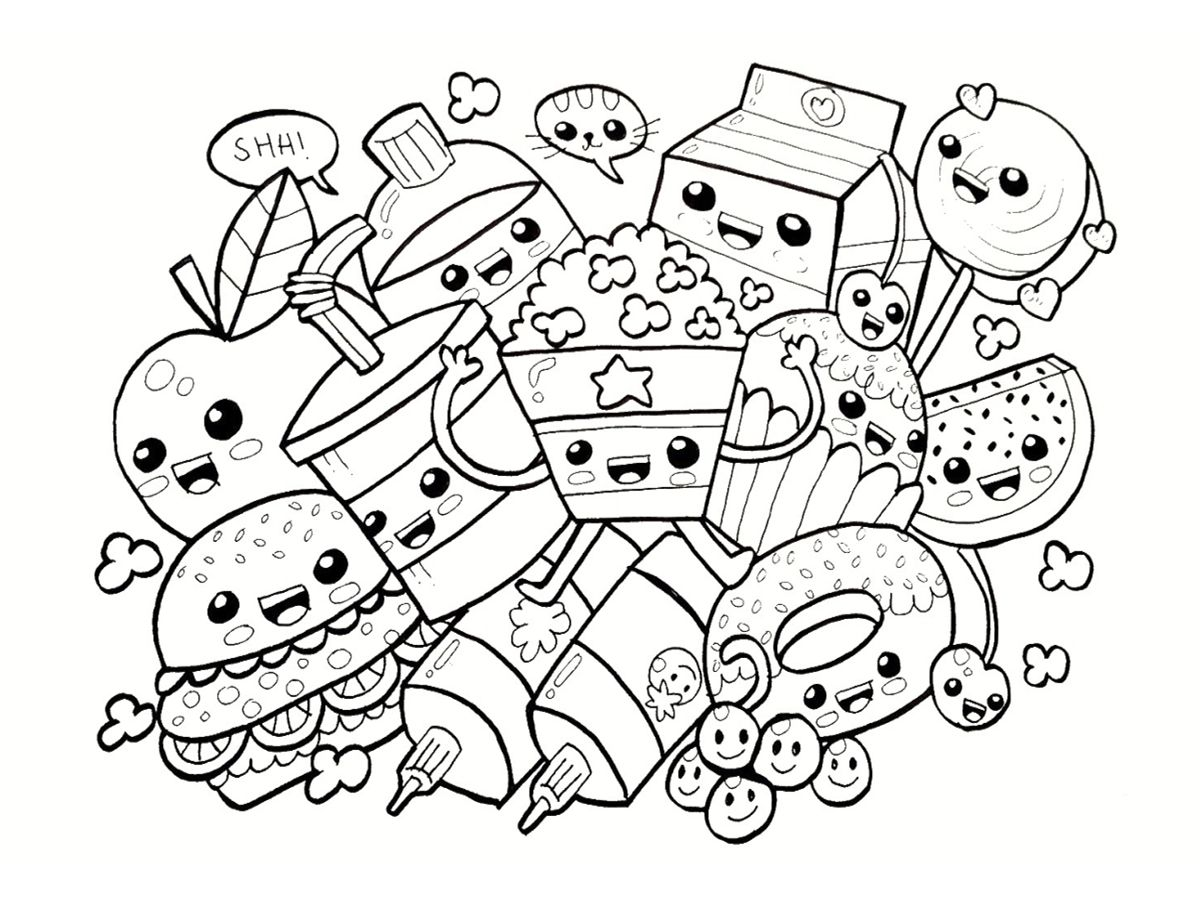 Resultat De Recherche D Images Pour Coloriage Kawaii Cute Coloring Pages Food Coloring Pages Coloring Books
