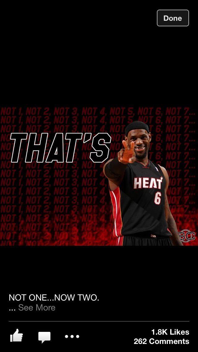 Miami Heat! Lebron Miami heat, Lebron james wallpapers