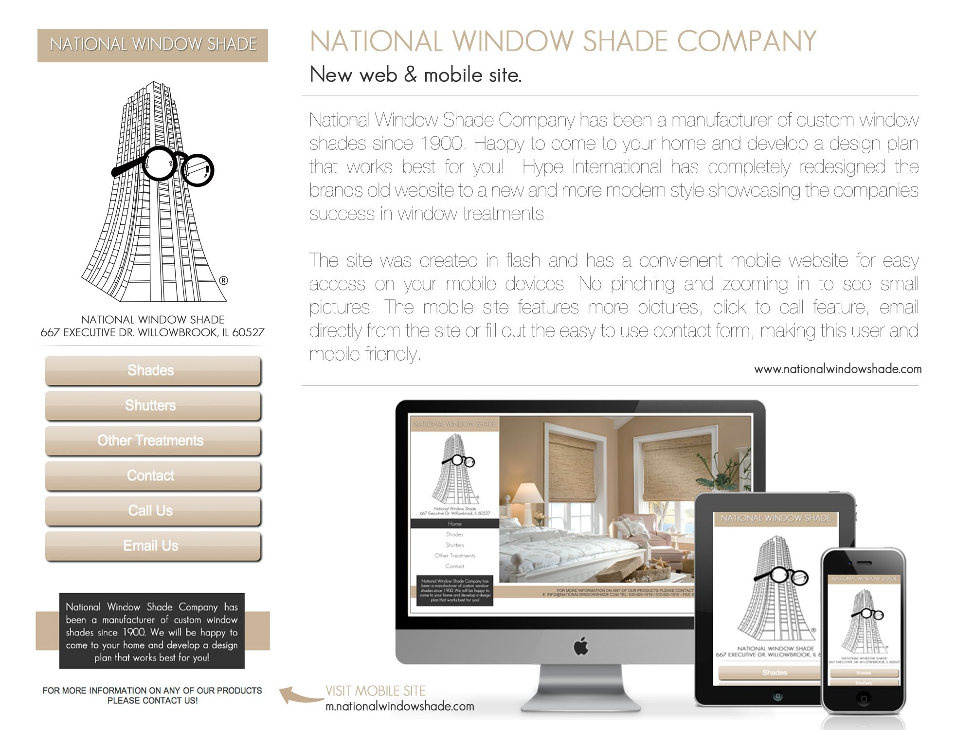 National Window Shade Company in Chicago  #webdesign project