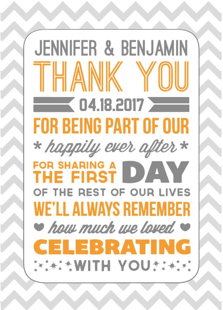 17 Stunning Free Printable Wedding Thank You Cards Chicks