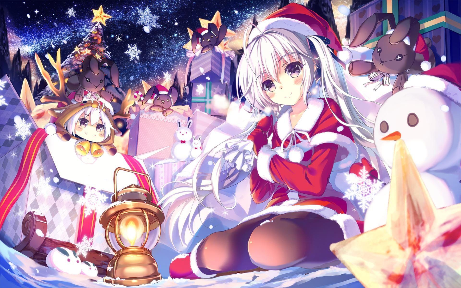 Anime Girls Christmas Yosuga No Sora Kasugano Sora Girl In Santa Costume Anime Character Anime Girls Christma Anime Christmas Anime Anime Wallpaper Iphone