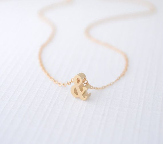 This little gold ampersand necklace is so perfectly petite. from $40 CLICK HERE to buy https://www.etsy.com/listing/156893993/little-gold-ampersand-necklace-1221?utm_source=Pinterest&utm_medium=PageTools&utm_campaign=Share #OliveYewJewelry