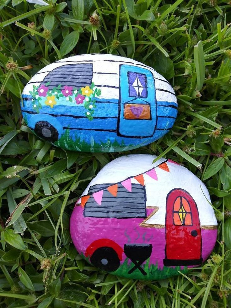 Camper Rock Art * freie Anpassung * - #Art #Camper #Customization #free #rock