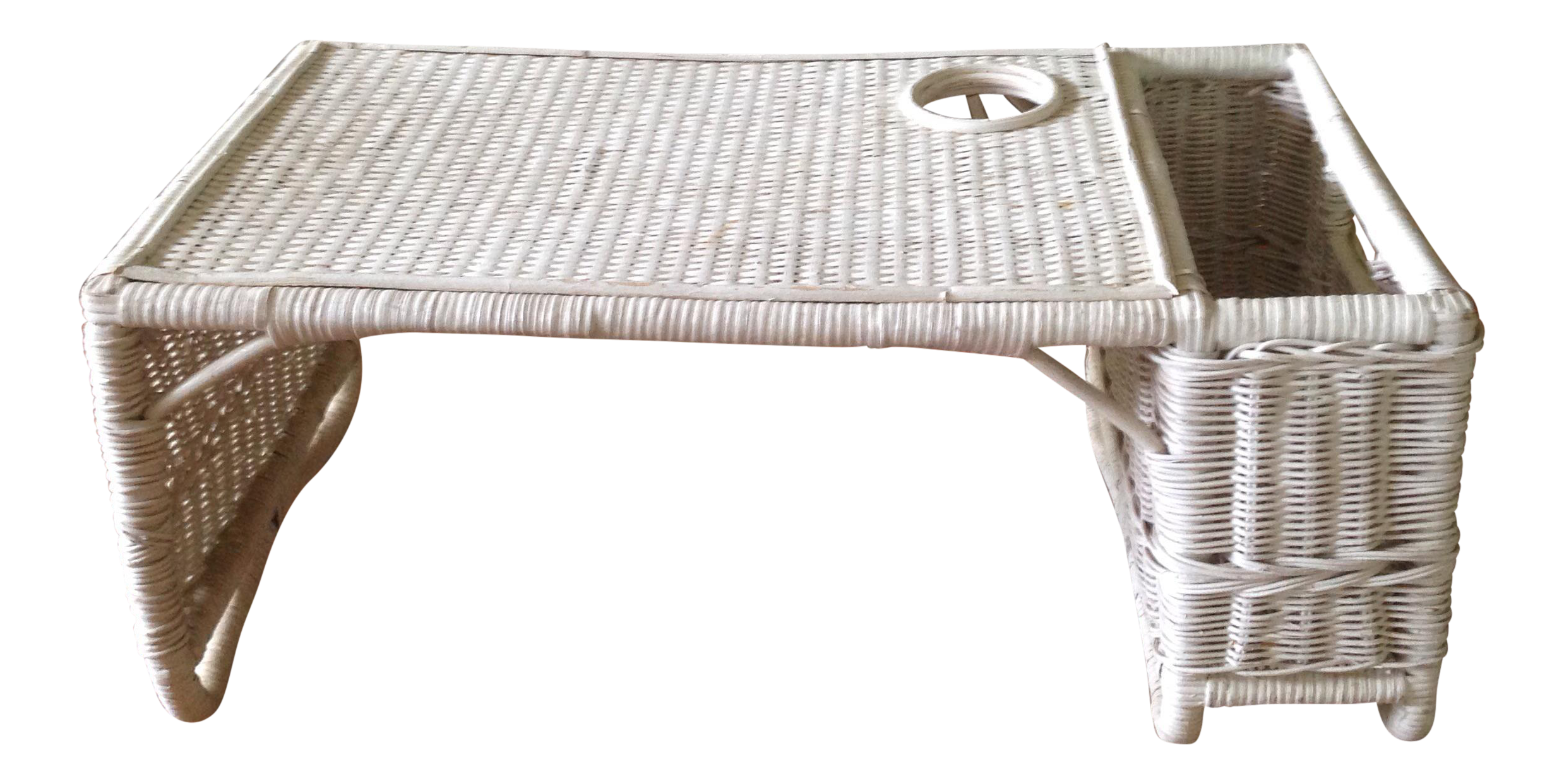 Vintage White Wicker Bed Tray Bed Tray White Wicker Wicker